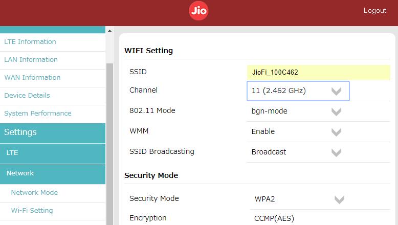 jiofi-better-speed-setting